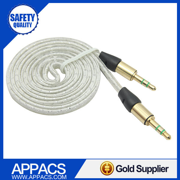 APPACS HIGH QUALITY!Free Shipping 1x Hot Sale 3.5mm Jack M /M Stereo Audio AUX Cable Cord For iPhone iPod 4 Colors(China (Mainland))