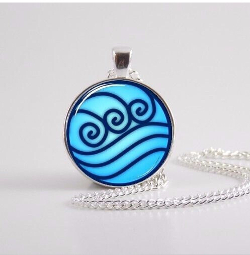 Avatar the Last Airbender necklace, Legend of Korra Water Tribe Glass Pendant Jewelry silver pendants for men(China (Mainland))