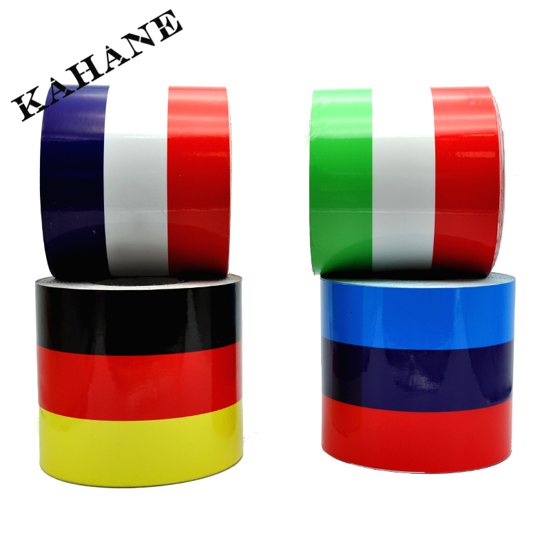"79""/2M 6""/15CM DIY Auto M Color Germany Flag France Flag Italy Flag Stripe Car Hood Vinyl Sticker Body Decal For BMW(China (Mainland))"
