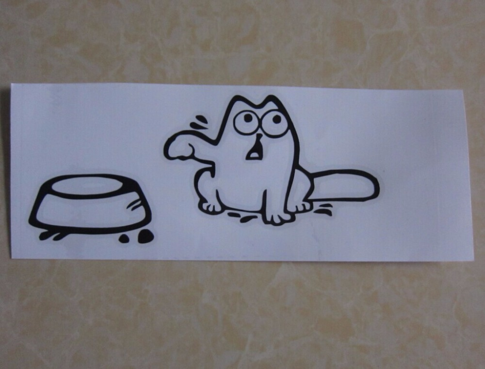 Hot sales Simon's CAT Decal Sticker Macbook Simons vinyl car laptop funny auto Hungry(China (Mainland))
