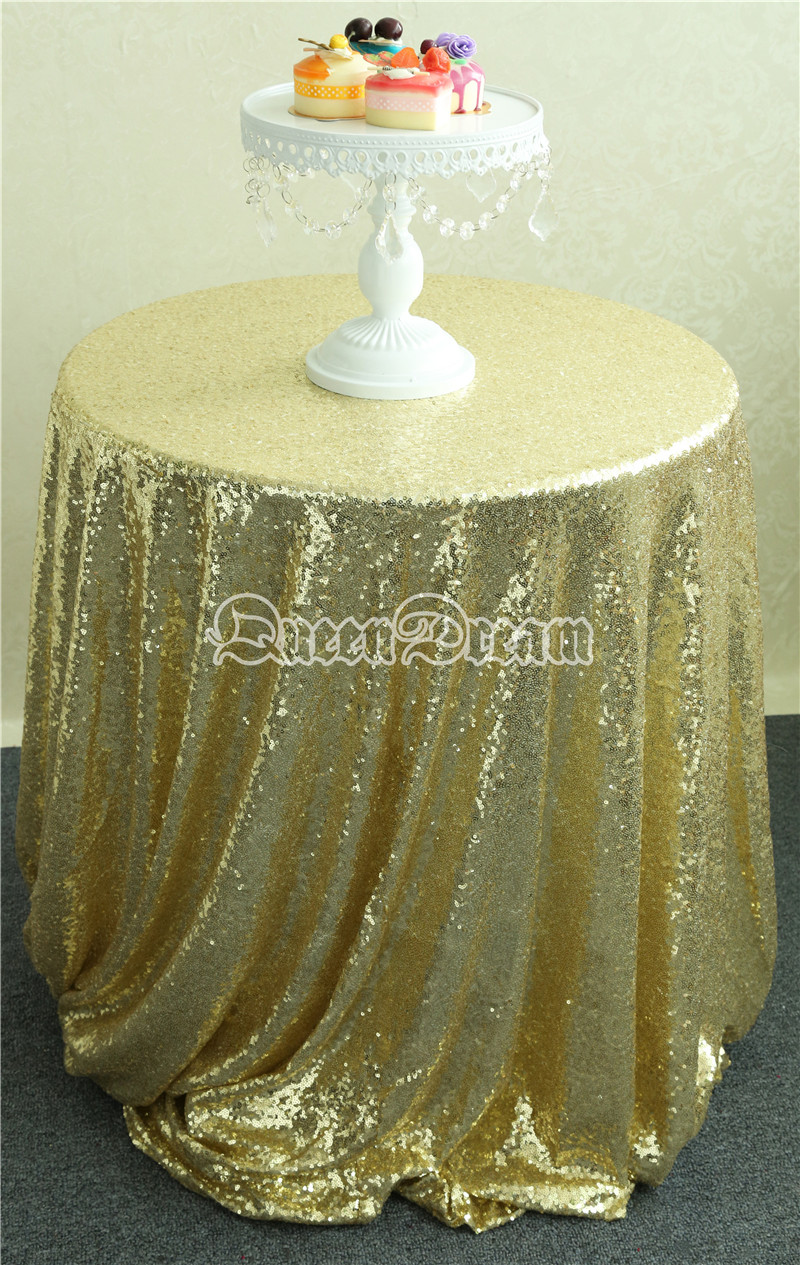 ON SALE Round Light Gold Sequin tablecloth Sequin Party Tablecloth Wedding Tablecloth sparkling Christmas decoration 225cm(China (Mainland))