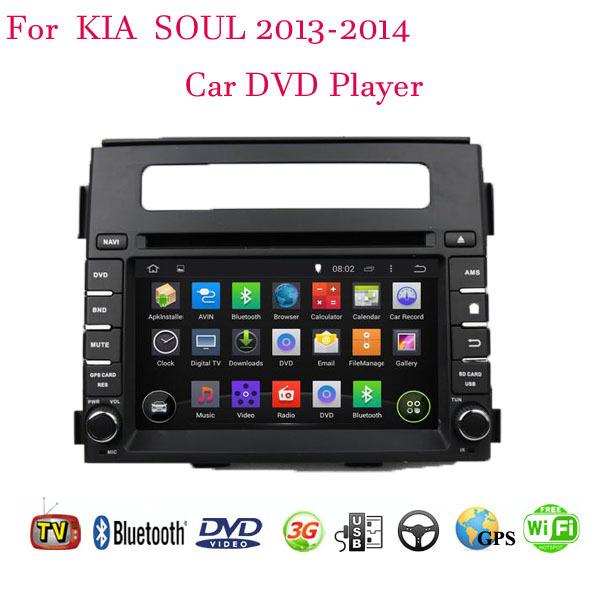 Android 4.4.4 Fit Kia SOUL 2013 2014 Car DVD Player GPS TV 3G Radio WIFI Bluetooth(China (Mainland))