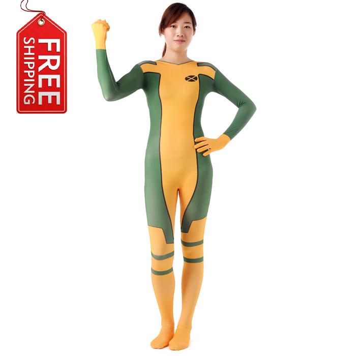 Rogue Costume Women Superhero Cosplay Halloween Costumes For Zetai Full Bodysuits Carnival