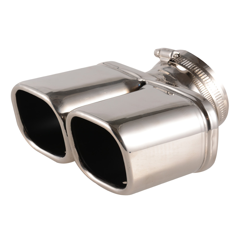 Y-Pipe  Car Exhaust Pipe Stainless Steel Dual Round Tail Muffler Tip Pipe Auto Silver Color Inside Diameter 7 cm Car Pipe<br><br>Aliexpress