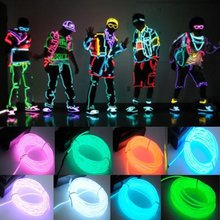 9ft Neon Blue/Green/Red/White Glowing Strobing Electroluminescent Wire (El wire) 9 feets 3M(China (Mainland))