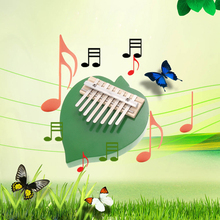 Thumb Piano Finger Piano 8 Keys Tunable Leaf Foot and Round Design Wood Musical Instruments   (China (Mainland))