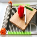 Creative Kitchen Tool Stainless Steel Wash Rack Collapsible Drain Water Storage Racks Free Shipping