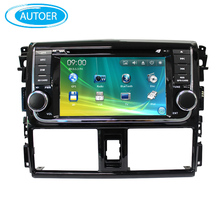 Wince 6.0 7 inch screen 2 DIN Car DVD player Radio stereo for toyota vios with SWC BT USB DVD GPS analog TV free map ipod 2014