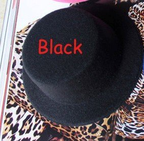 20pcs/lot Black Fascinator Hat Small Top Hat Mini Top Hat #10Color