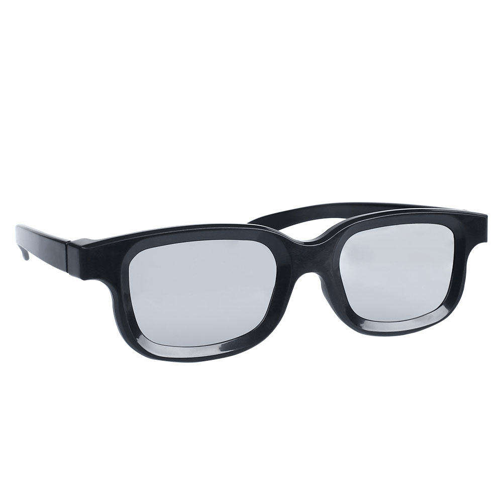High-quality Black Circle Round Polarized 3D Glasses Movie DVD LCD Video Game Theatre TV Circular Wholesale(China (Mainland))