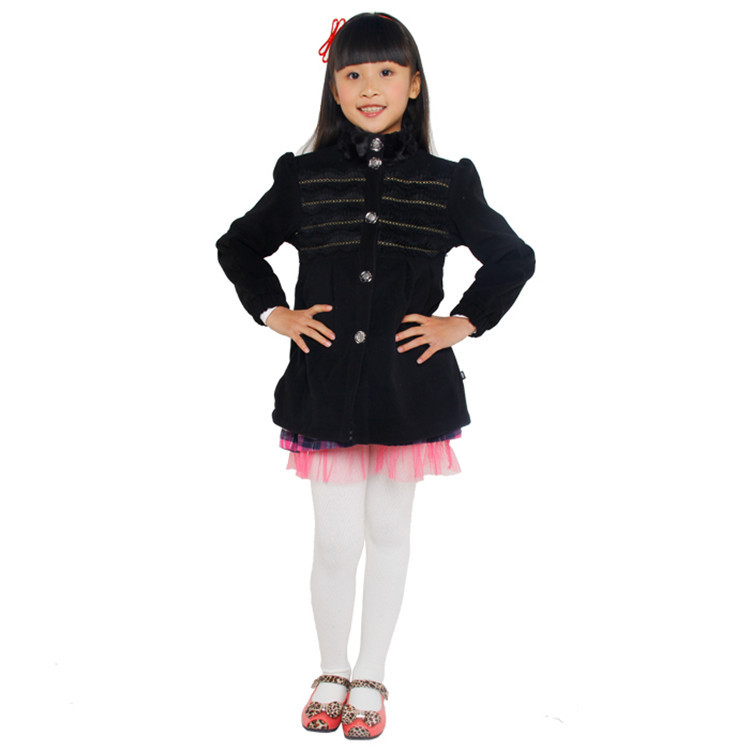 2015 spring and autumn hot sale little girls fashion long coats baby girls long sleeve outerwear YGF51740(China (Mainland))