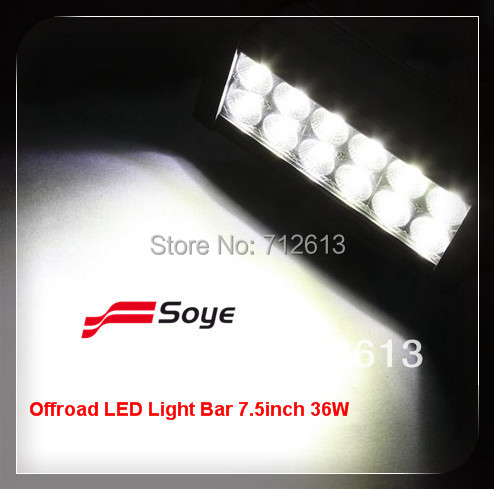 led light bar off road 36w used utv atv marine truck off brand car accessories spare part(China (Mainland))