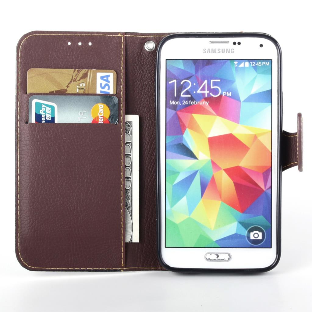 Case For Samsung G357 Cover Soft Silicone & Flip Leather Case For Samsung Galaxy Ace 4 G357FZ G357 Fundas Card Slot Phone Shell