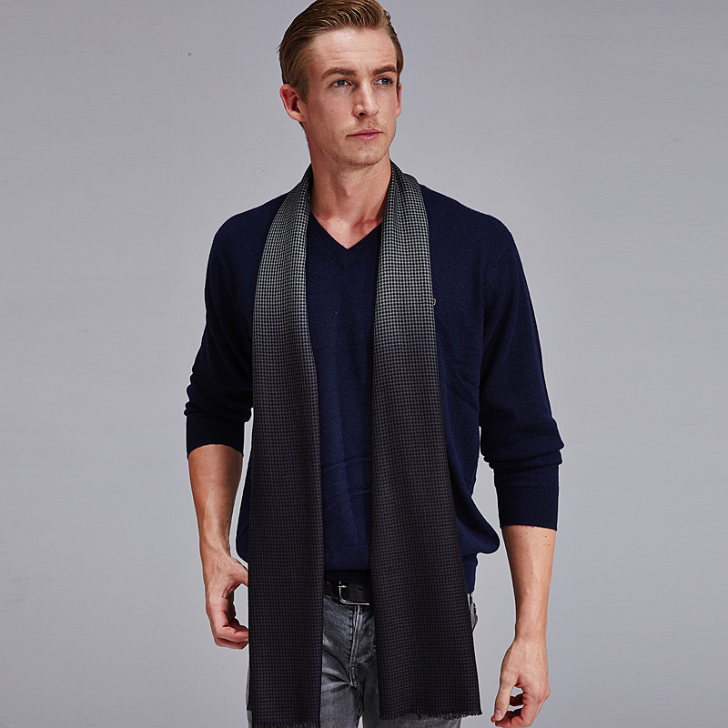 Shanghai story genuine high end men 39 s business wool scarf for High end men s shirts