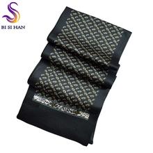 2016 nova chegada Man100 % lenço de seda impresso novo estilo da marca de 160 * 26 cm homem cachecol para a primavera outono inverno cachecol