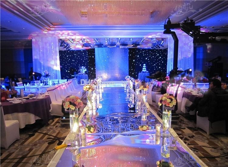Wedding centerpieces mirror carpet aisle runner 1m wide for Where can i buy wedding decorations