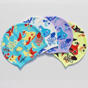 3D shark fish kids Silicone Cartoon Swimming Cap,Children swimming hat,Free shipping(China (Mainland))