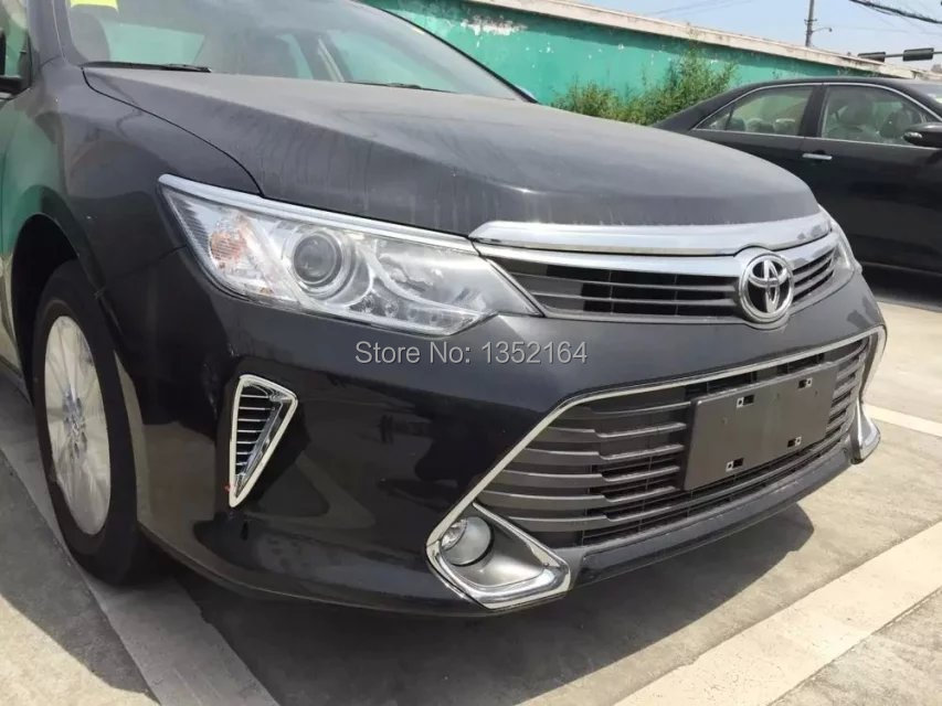 Auto Exterior Moulding Front Air Trim For Toyota Camry 2015 Abs Chrome Auto Accessories 2cs