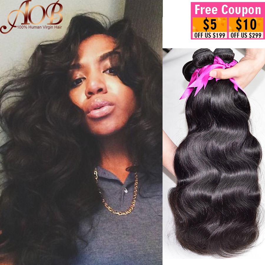 Peruvian Virgin Hair Body Wave Hair 3pcs Peruvian Body Wave Virgin Peruvian Hair Bundles Wavy Human Hair Weave #1B 6-28 inch