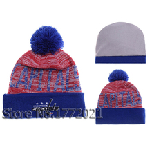 2016 new arrival winter sport team knit Skullies cap Washington Capitals ice hockey vintage pom cuffed warm beanie hat
