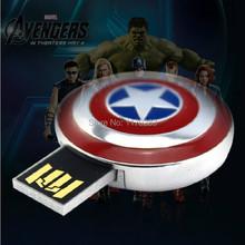 Cartoon Hero Captain America USB Flash Drive16GB Memory Pen/Thumb Drive 16GB Cartoon pen drive(China (Mainland))