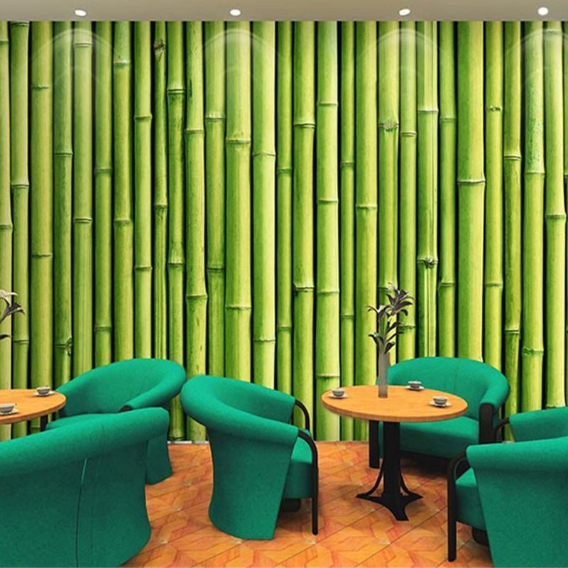 Resultado de imagem para parede decorada com papel de parede bambu