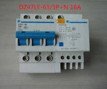 Buy DZ47LE-63/3P 16A earth leakage circuit breaker 3P+N C6-C60 400V for $4.75 in AliExpress store
