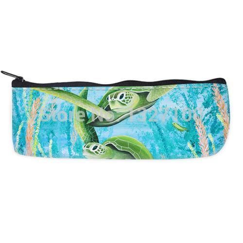 hot selling Green sea turtles Custom Pencil Case Bag amazing(China (Mainland))