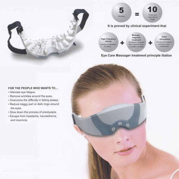 Free Shipping Christmas Gift Mask Migraine DC Electric Alleviate Fatigue Healthy health Care Forehead Eye Care Massager(China (Mainland))