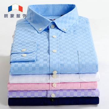 2015 мужчин свободного покроя рубашки тонкой воля бренд весна осень рубашка сплошной ...