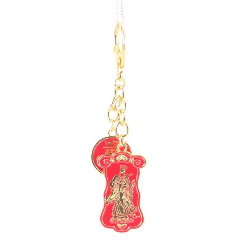 18k Gold Plated Lucky Buck Keychain Bike Chain Opener Fallout Figure Key Chain China Style Valentine Gift Boyfriend High Quality(China (Mainland))