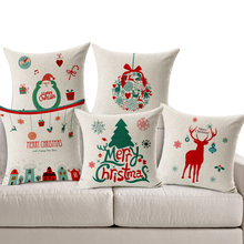 Buy Decorative linen pillow cushions Merry Christmas Elderly Snowman Elk pattern printing home car sofa pillow cushions Free shippin for $5.08 in AliExpress store