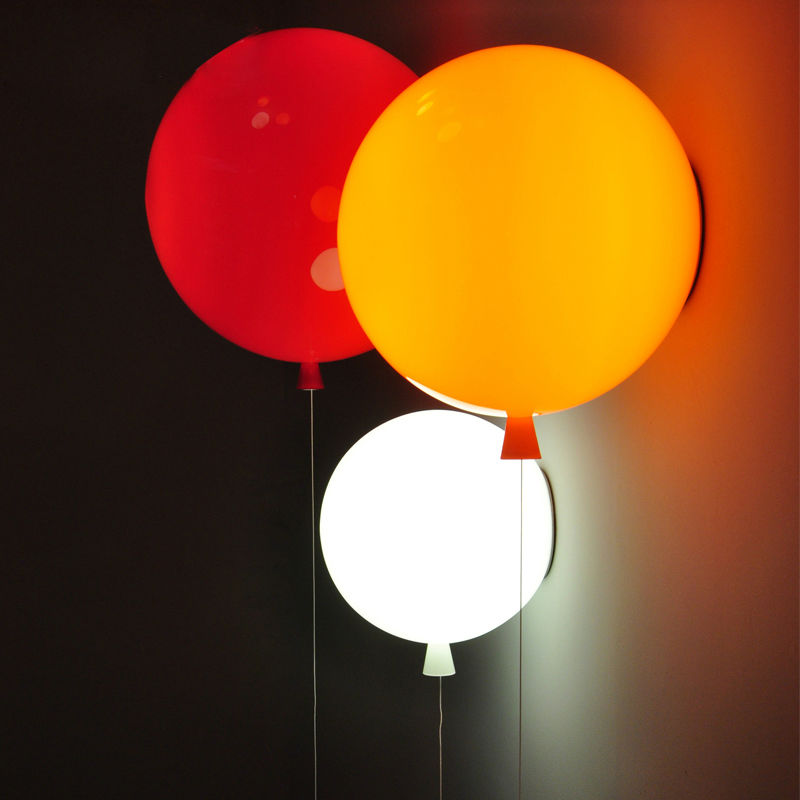 Novelty Colorful Balloon Wall Lamps Modern Children Bedroom Bedside Wall Lights With Pull Switch Acrylic Shade Restaurant Lamp(China (Mainland))
