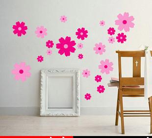 2105 new Korean pop super cute romantic houseful wall sticker flying big cherry flowers wall stickers(China (Mainland))