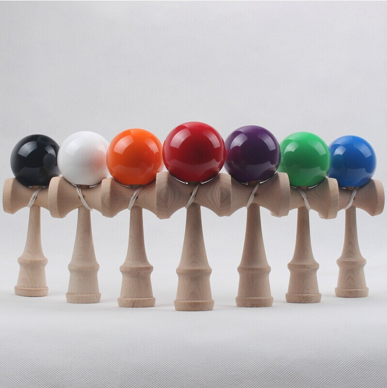 factory OEM 1 piece shipping out door wooden kendama ball sport game painting color sales hot beach wood game ball kids(China (Mainland))