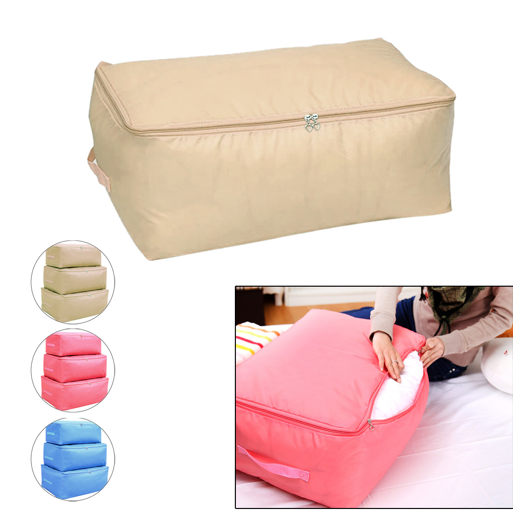 Popular Foldable Storage Bag Clothes Quilt Sweater Organizer Pouch Creamy-white/Blue(China (Mainland))
