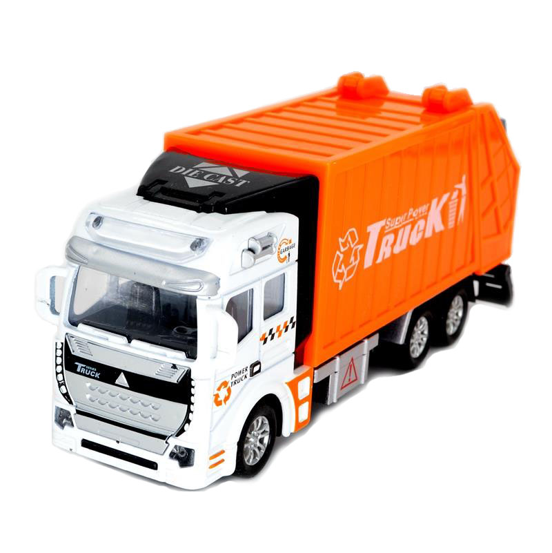 Arpa 1:32 Alloy Sanitation Engineering Vehicle Simulation Garbage Truck Model Gift for Children Toys, with 1pc Rubbish Bin(China (Mainland))