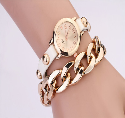 2014 latest retro bracelet with gold plated chain rivet ms bracelet watches watches on sale promotion<br><br>Aliexpress