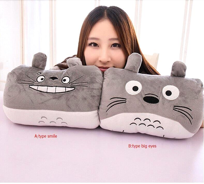 Brinquedos 2015 Cartoon Totoro Pillow Cushion Toys for Children Anime Kids Baby Brithday Gifts Plush Toys Doll(China (Mainland))
