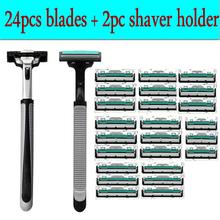Hot 24pcs/lot Blade System Men Face Shaving Blades In Original Package Version Shaving Razor Bladed Shaver Razors Shaving(China (Mainland))