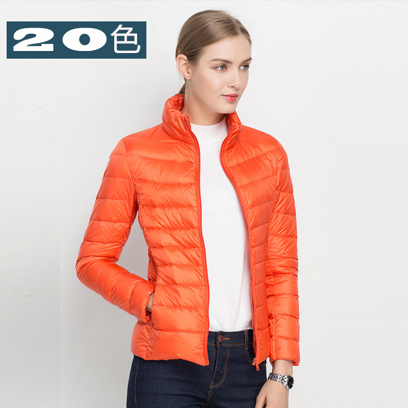 LO1 2016 New Arrival Women Fashion Flare sleeve Short Down Coat Female Thin Brand Plus Size 20 Colors Down Jacket S-3XL(China (Mainland))