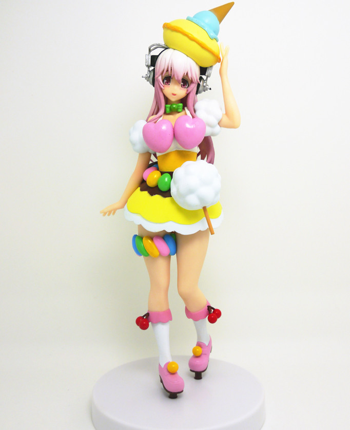 18cm SONICO Action Figure Super Sonic Colorful Candy Cake Ver.Sexy PVC Anime Figure Sexy Girl Action Figure Collection(China (Mainland))