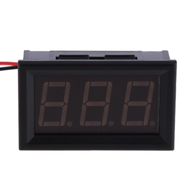 1 PC New Mini AC 60-500V 3-Digital LED Voltmeter Panel Display Voltage Meter w/ 2 Wires P5