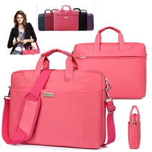 13 13.3 14 15 15.6 inch Soft Nylon Waterproof Laptop Computer Case Cover Sleeve Shoulder Strap Bag Briefcase w/ Pocket & Handle