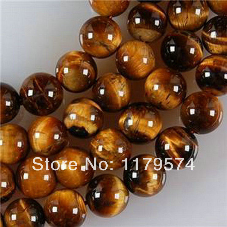 "Free shipping wholesale and retail New ( 4MM 6mm 8mm 10mm 12mm ) African Roar Tiger's Eye Round Loose Beads 15""WJ350(China (Mainland))"