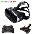 VR Shinecon Pro Virtual Reality 3D Glasses Google Cardboard Headset Head Mount for Smartphone 4-6′ + Bluetooth Remote Controller