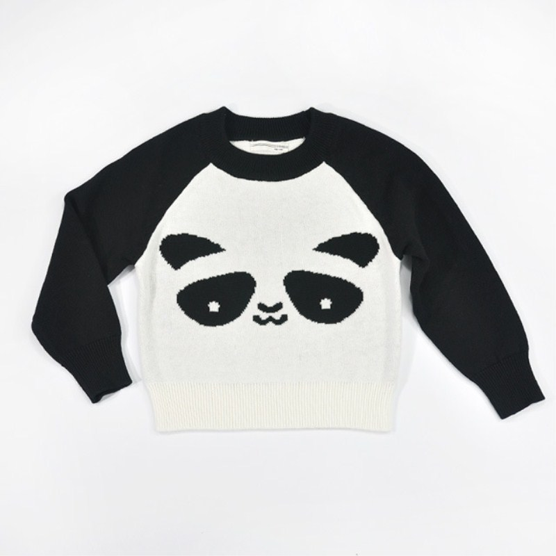 2016 Baby Clothing Boys Girl Sweater Autumn Wear Long-Sleeve Sweaters Boy Girls Panda Paragraph Cardigan Outerwear Pullovers(China (Mainland))