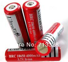 10 шт. / LOT ultrafire 18650 аккумулятор 4000 мАч печатная плата 3,7 V перезаряжаемый аккумулятор для светодиодный фонарик