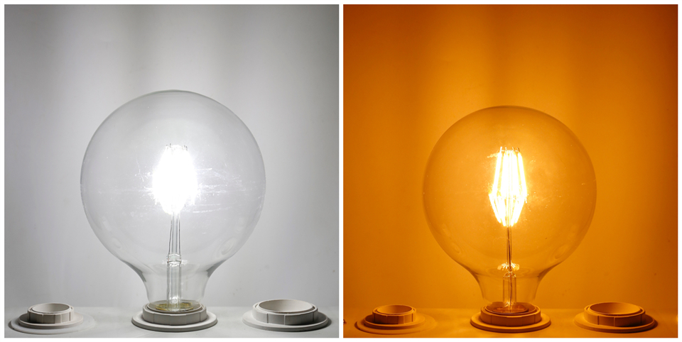 Edison Led Filament Bulb G80 G95 G125 Big Global light bulb 2W 4W 6W 8W filament bulb E27 clear glass indoor lamp AC220V