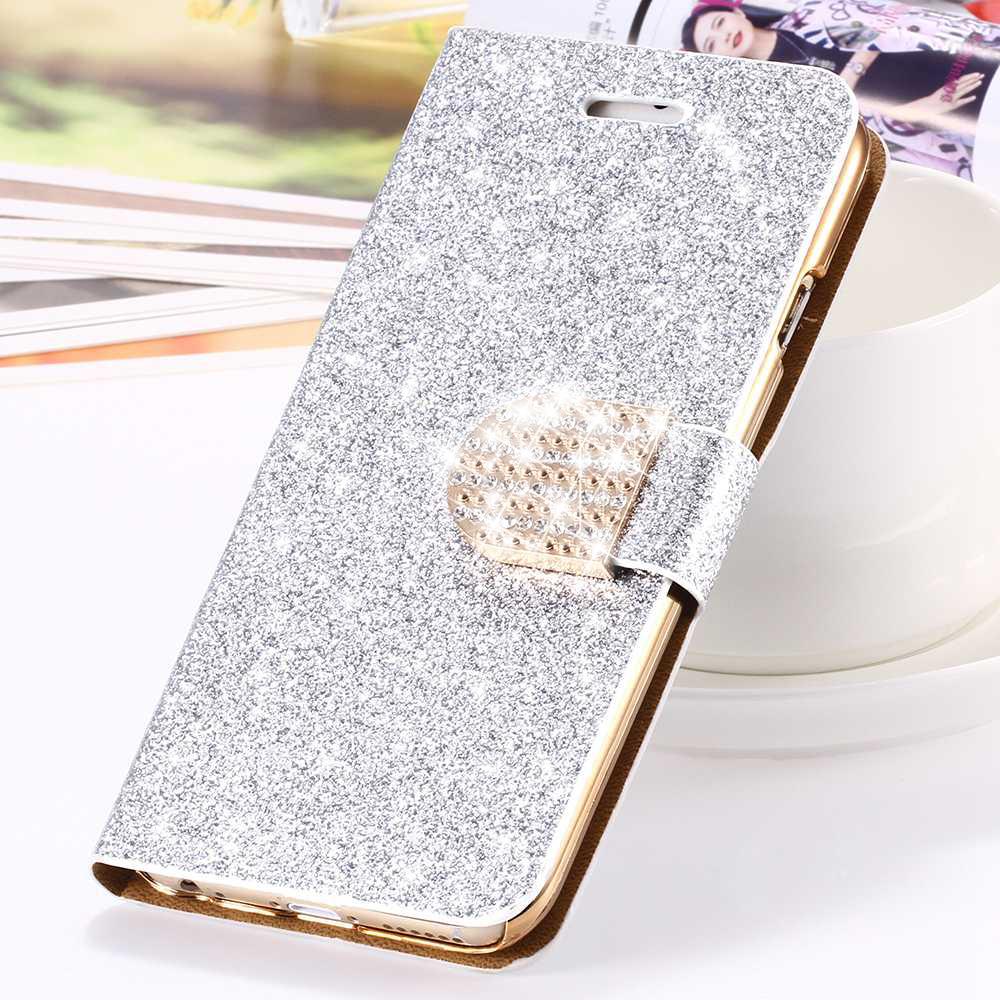Luxury Bling Diamond Glitter Flip Wallet Case For Apple iPhone 5 5s SE 4.0'' /6 6s 4.7'' /6 plus 5.5'' Girly Cover Shell Capa(China (Mainland))